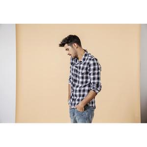 Image 2 - Мужская клетчатая рубашка из 100% льна SIMWOOD, повседневная модная крутая рубашка, брендовая одежда большого размера, новая модель 190203 на лето, 2019