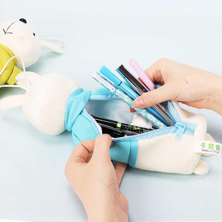 Мультфильм пенал с животными плюшевый кролик карандаш пенал для школьных принадлежностей Канцтовары подарок школа милый пенал карандаш сумка