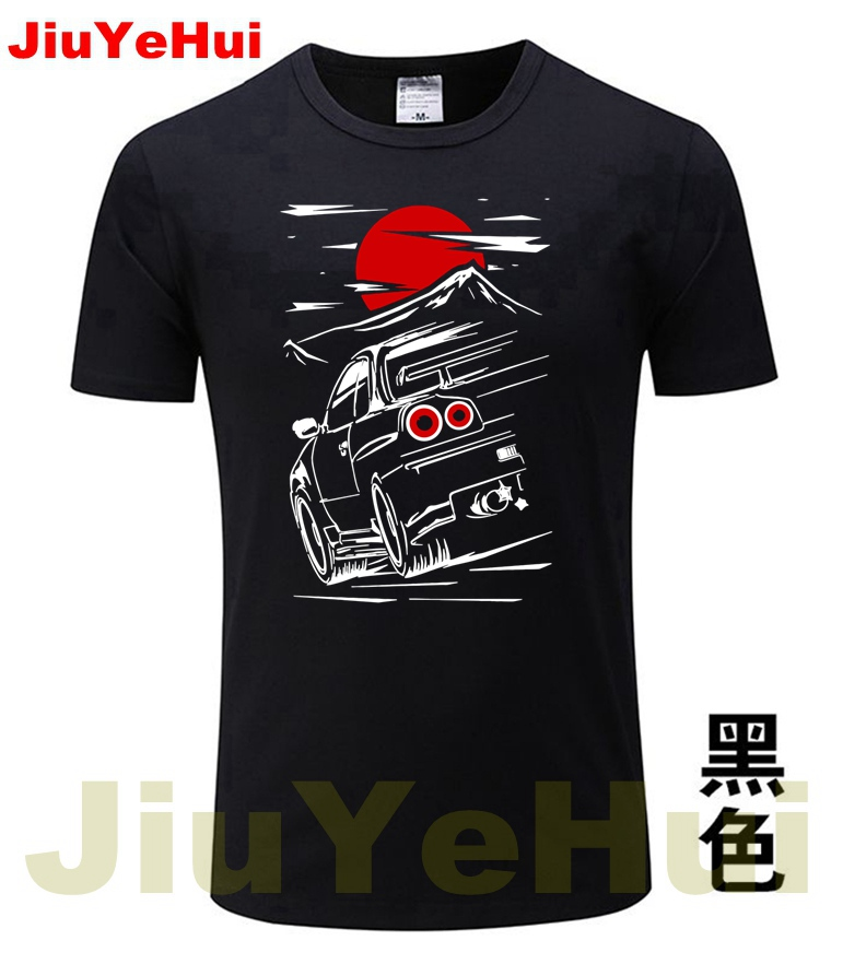Brand New Cars For Male Nissan Skyline GTR 34 Haruna Men's Car TShirt Fashion Tee TShirtS ThinkNo Summer   T     Shirt