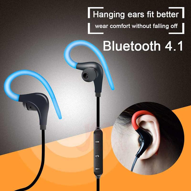 MEUYAG bezprzewodowy zestaw głośnomówiący Bluetooth słuchawki Sport zestaw słuchawkowy z mikrofonem mini ukryty słuchawki douszne słuchawki do iPhone'a XR Samsung