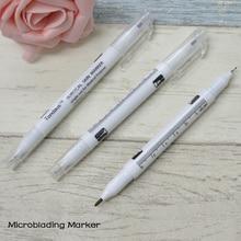 10 Pcs Eyebrow Microblading Marker Pen For Microblading Practice Eyebrow Tattoo Design Eyebrow Stencil