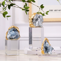 Luxurious Natural Agate Stone Home Decor Accessories Figurine Ornament Office Crystal Living Room Decorative Statues Gift