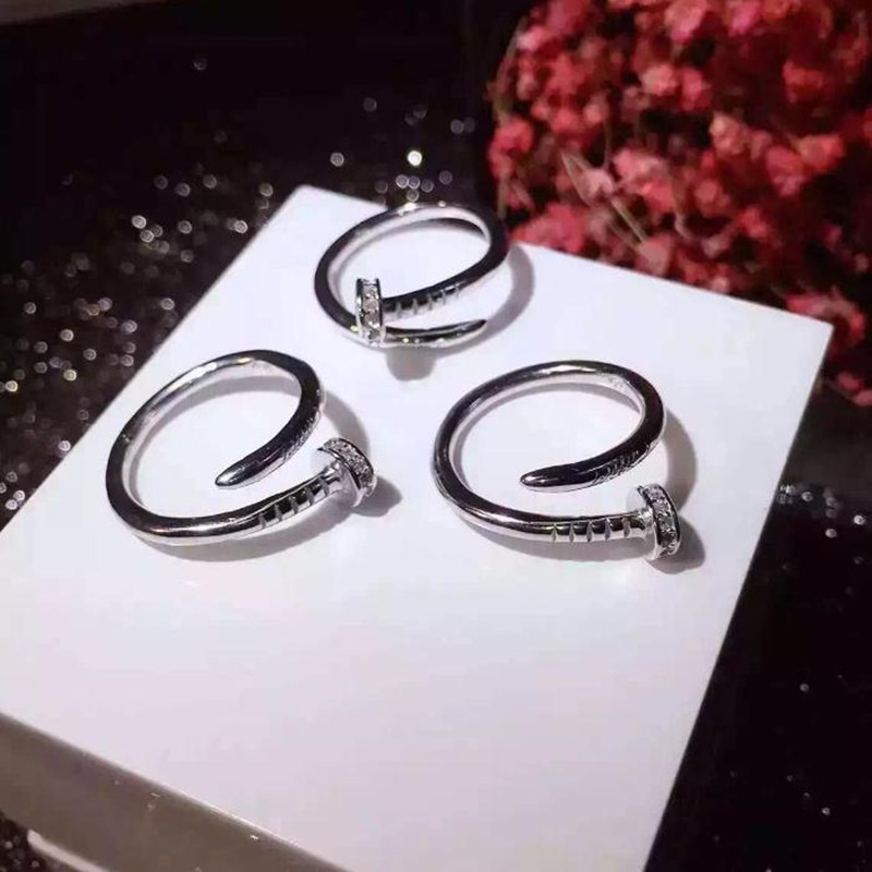 Top quality 316L stainless steel carter nail love rings for women men couple engagement ring engraved logo not fade