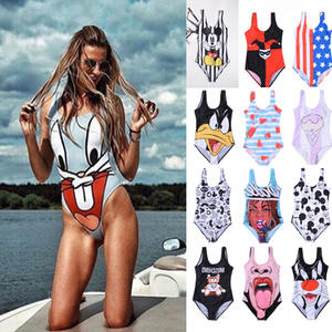 2019 Push Up High Waist Bathing Suit Plus Size Swimwear Swimsuit Girls Swim suit