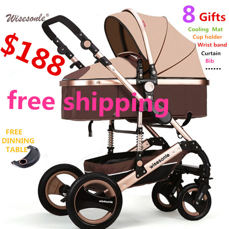 free shipping SGS certification 3 year warranty baby <font><b>stroller</b></font> 0 - 3 years Multi-color choices Natural Rubber Four Wheel