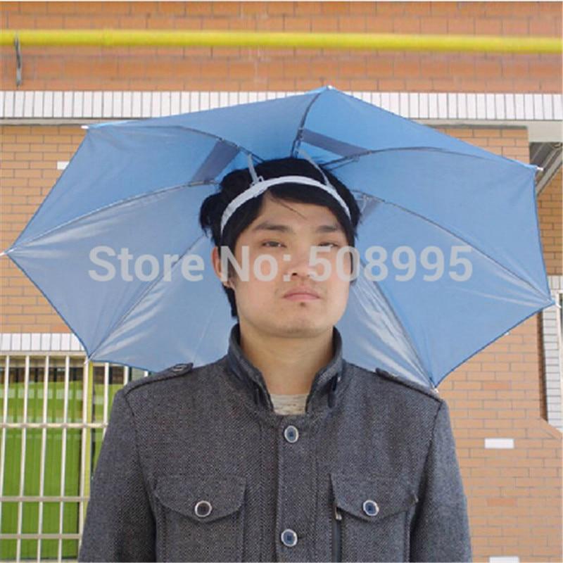 a732a2b57fc1c 1p Multifunction Fishing Head Umbrella Head Umbrellas Fishing Hat Anti-UV  Rain Umbrella Hot sale Anti-Sun Tool