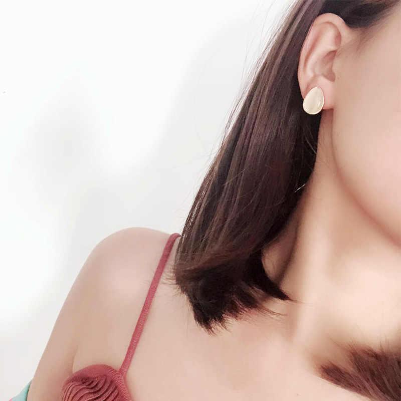2019 nueva moda mujer Vintage lindo ópalo forma de gota Pendientes elegante Sweety coreano Pendientes joyería regalos accesorios de oreja