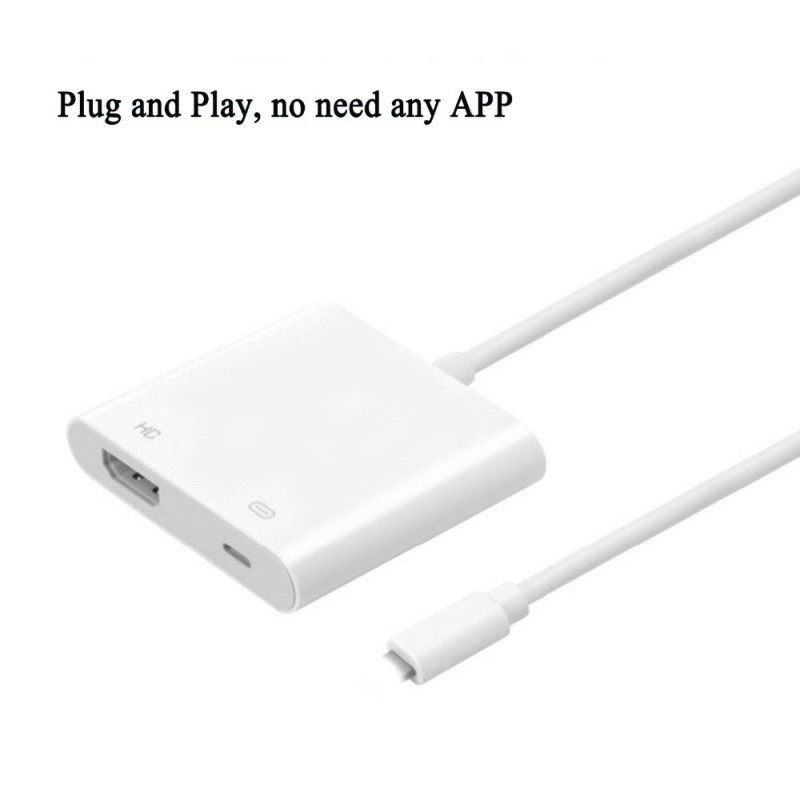 1080P Phone HDMI Cable Adapter For Apple Phones 8-Pin Port HD TV/ Projector Converter Adapter For IPhone 5/ 6S/ 7 IPad 4/ Mini