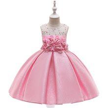 купить Baby Girl Princess Flower Dress for Wedding Party Kids Dresses for Toddler Girl Children Fashion Christmas New Year Clothing дешево