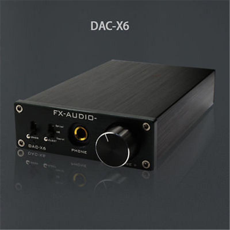 Prix pour FX-Audio Feixiang DAC-X6 HiFi amp Optique/Coaxial/USB DAC Mini Maison Numérique Audio Décodeur Amplificateur 24BIT/192 12 V Alimentation