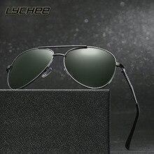 Summer new de alta calidad de los hombres de moda gafas de sol polarizadas de los vidrios metálicos versacey conductores hombres gafas de sol hombre de la vendimia