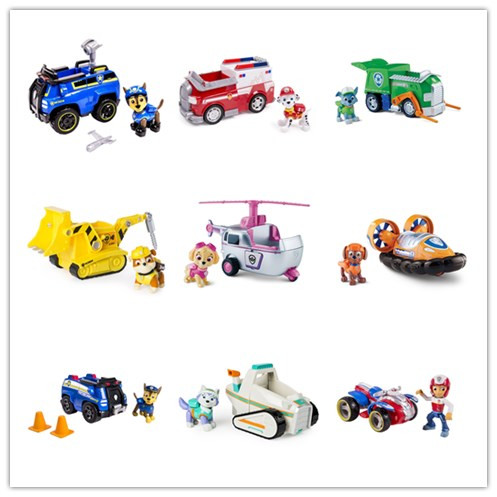 Image 2 - Genuine Spin Master Paw Patrol RESCUE RACERS VEHICLE Skye's High Flyin Copter Ryder's Rescue ATV Vehicle and Figure children toy-in Action & Toy Figures from Toys & Hobbies