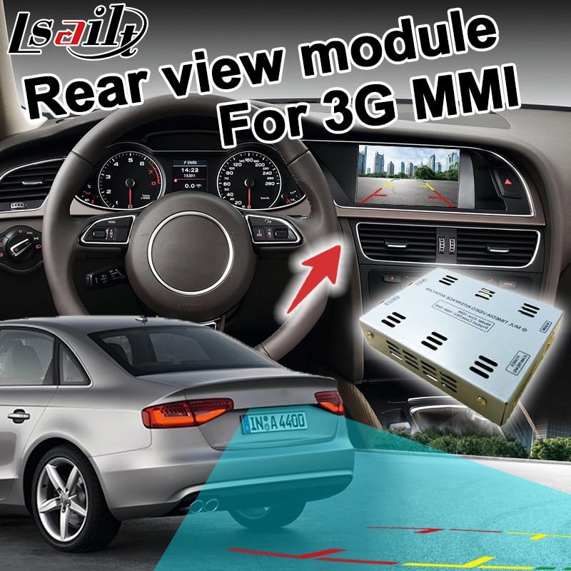 Rear view adapter interface for Audi 3G MMI A1 A4 A5 A6 A7 A8 Q3 Q5 Q7 RCA signal input mirror link support lq070t5dr06 lq070t5dr02 lq070t5dr01 brand new original 7 inch lcd display screen for audi a4 a6 a8 q7 a4l a6l q5 a5 3g mmi high