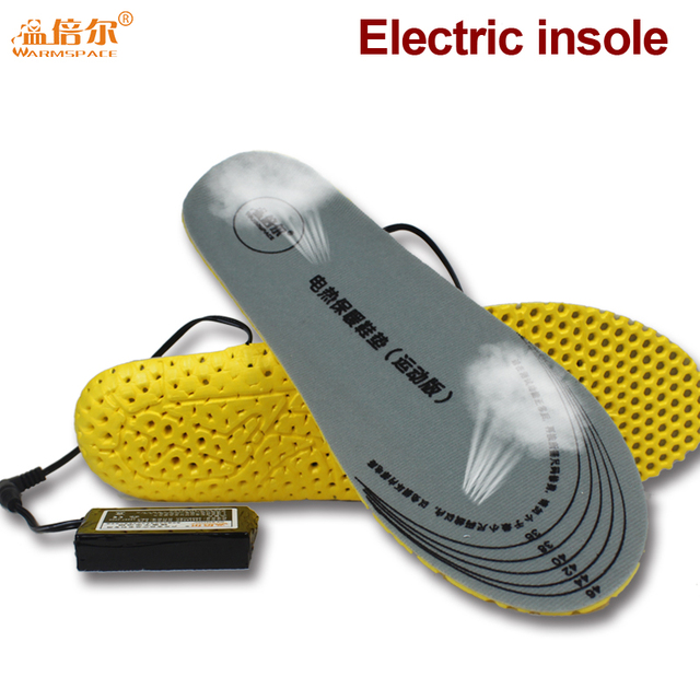 Electric Heating Insoles with 2*3600MAH Battery Operated Damping Breathable Sports Insoles for Winter Outdoor Gear