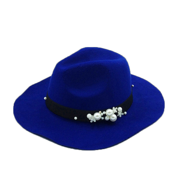 2016 Best Goods Pure Color Creative Big Hat Pearl New Simple Trendy Multicolor High Quality Hot Sale Wool Adult  Casual Street
