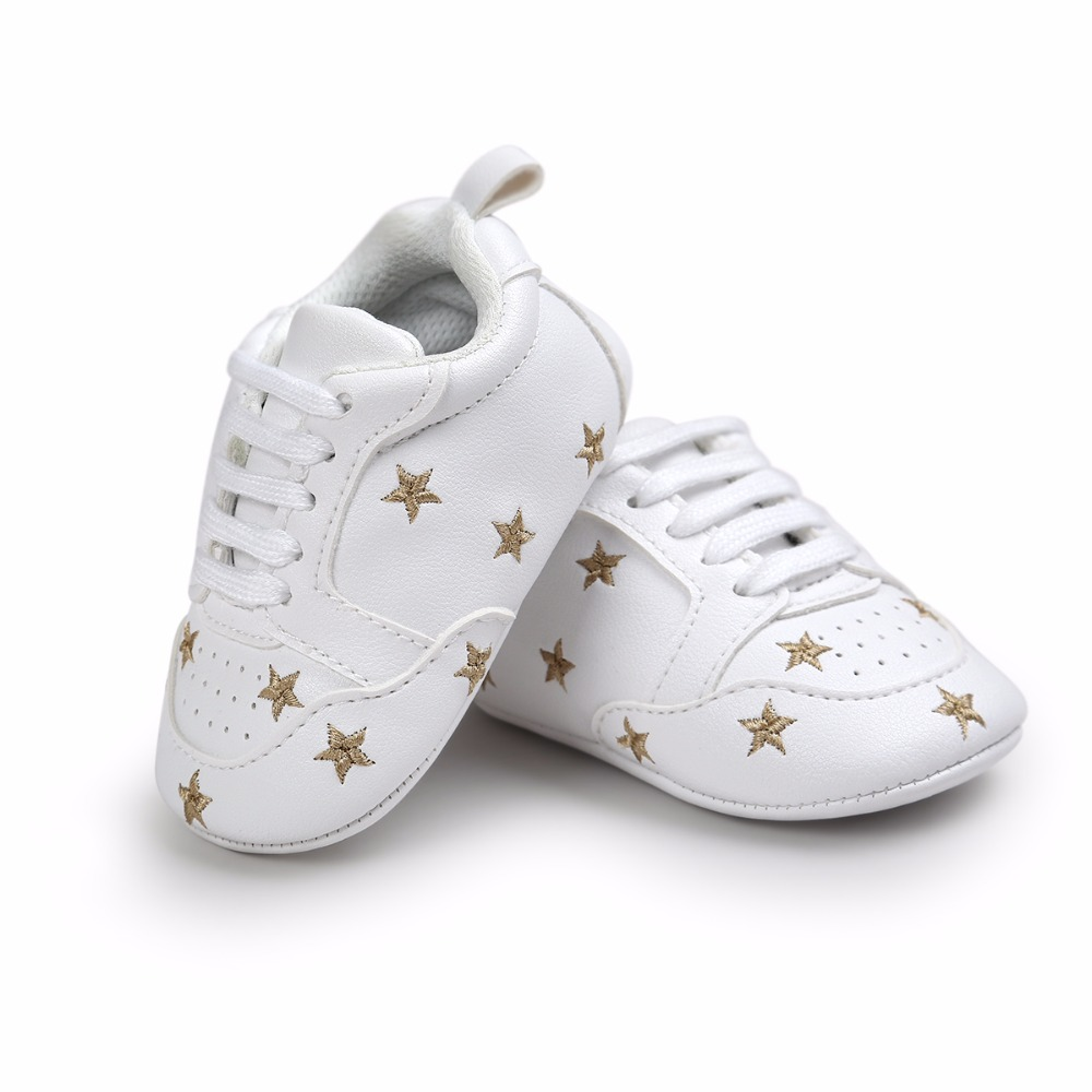 fb95f59d34845 Hot Multiple Star Baby Girl Shoes first walkers Lace-up Fashion Baby ...