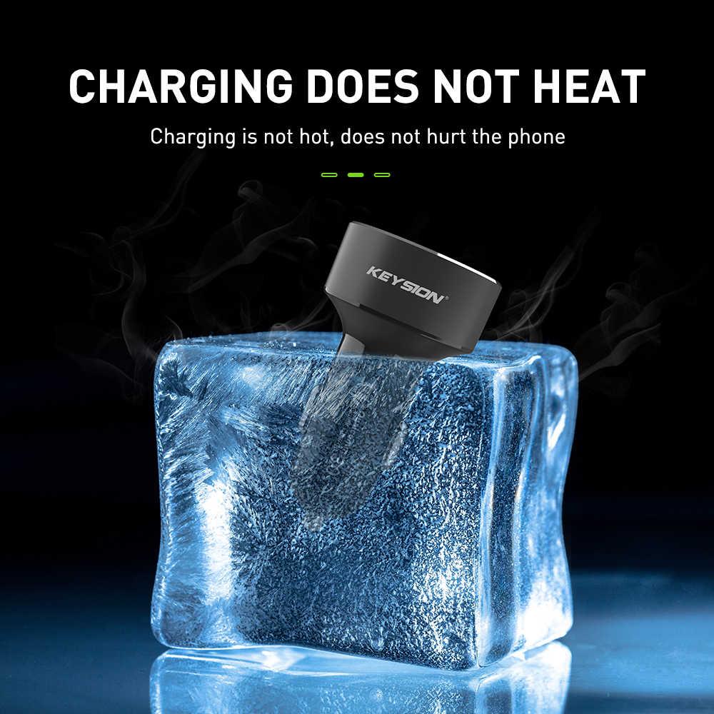KEYSION المزدوج USB شاحن سريع QC 3.0 سيارة شاحن آيفون XS ماكس XR X 8 7 سامسونج S9 Note9 LED عرض الرقمية الذكية شواحن