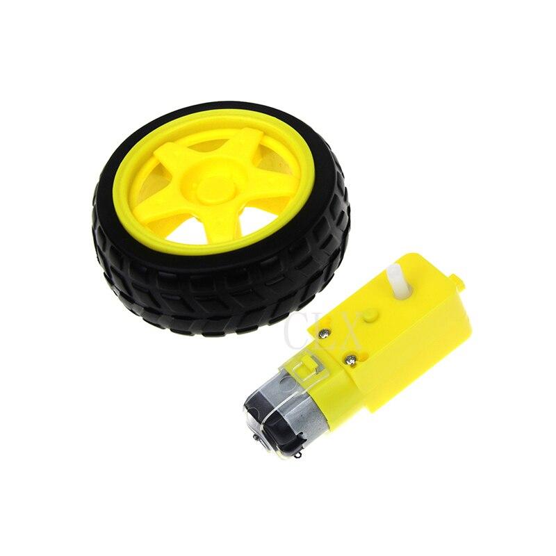 Verantwortlich 1/2 Set Smart Auto Roboter Chassis Kit Hohe Festigkeit Kunststoff Smart Auto Reifen Rad Mit Dc 3-6 V Getriebe Elektrische Motoren Für Diy Mayitr