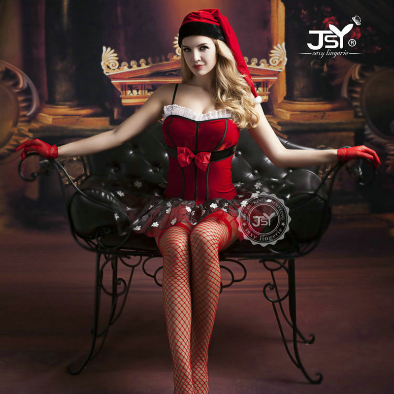 9757 Woman Sexy Lingerie Christmas Costumes Sexy Santa -5003