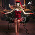 9757 Woman Sexy LIngerie Christmas Costumes Sexy Santa Claus Cosplay Babydoll Lingerie Sexy Holloween Costumes for Women