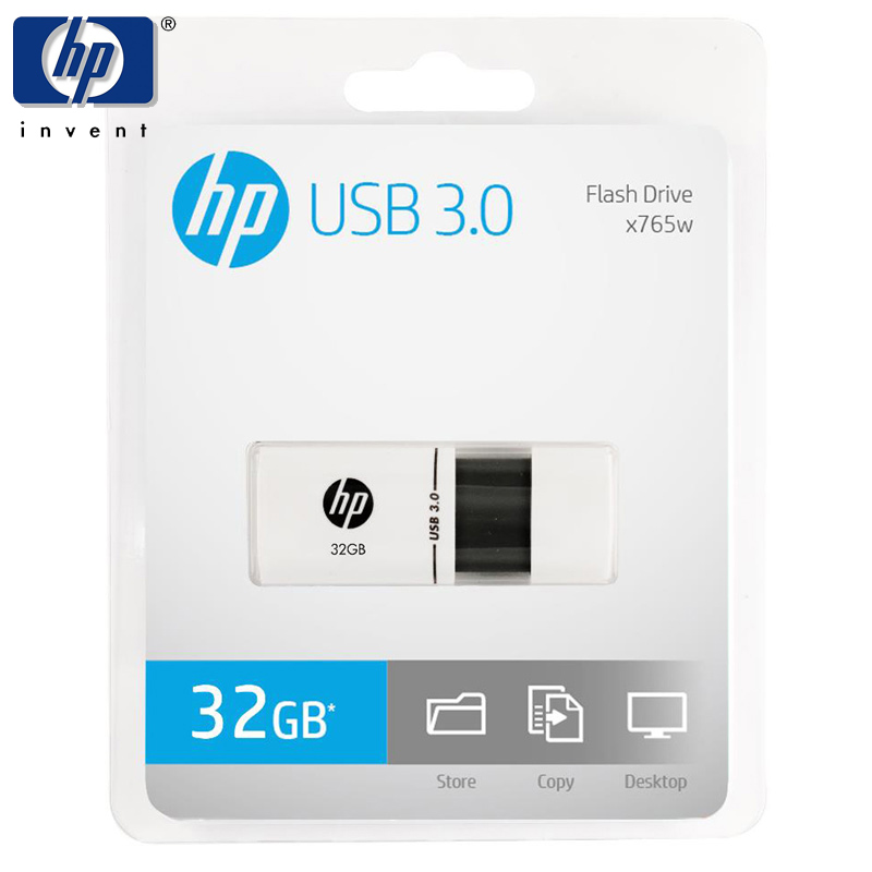 HP Usb Flash Drive 3.0 32gb pen drive Plastic high speed flash memory stick cle usb key 16GB 32GB x765w memoria disk pendrive ourspop op 518 high speed key style 16gb usb2 0 memory flash disk for desktop laptop