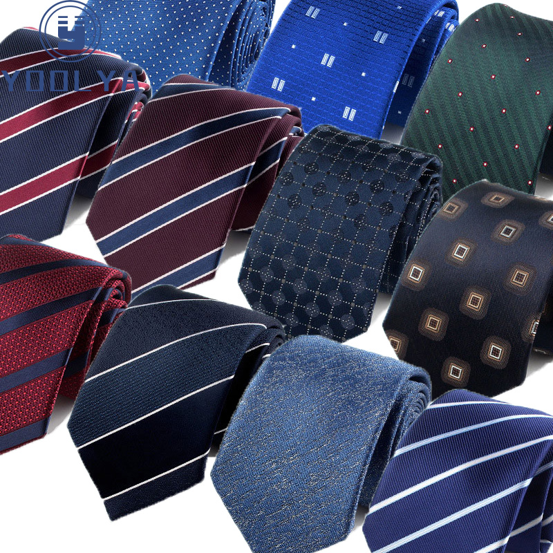 Men Tie Fashion 7cm Classic Luxury Jacquard Woven Neckties Factory Seller Bridegroom Business Wedding Accessories Shirt Neck Tie