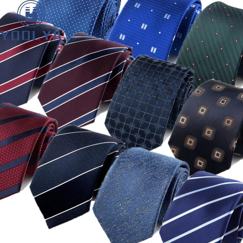 Men Tie Fashion 7cm Classic Luxury Jacquard Woven Neckties Factory Seller Bridegroom Business Wedding Accessories Shirt Neck Tie