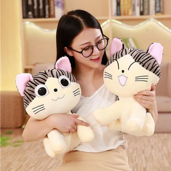 25/35/45CM Plush Toys Chi Cat Stuffed And Soft Animal Dolls Gift For Kids Kawaii Chi's Cat Toys Chi's Sweet Home Anime Lover Toy chi s cheese cat private sweet cat papa big eyes cat plush toy doll kids toy home pillow