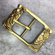 Chinese Style Brass Belt Buckle Classical Guan Yu Belt Buckle High Quality Belt Buckle For Man Belt Leather BK0115(China)