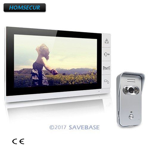 HOMSECUR Wired Video Door Phone Doorbell 9 Lcd Monitor Ir Camera Of Home Intercom 1V1