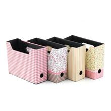 1pcs Cute Desk Decor Organizer Makeup Cosmetic Stationery DIY Paper Board Storage Box 15.6×5.6x13cm