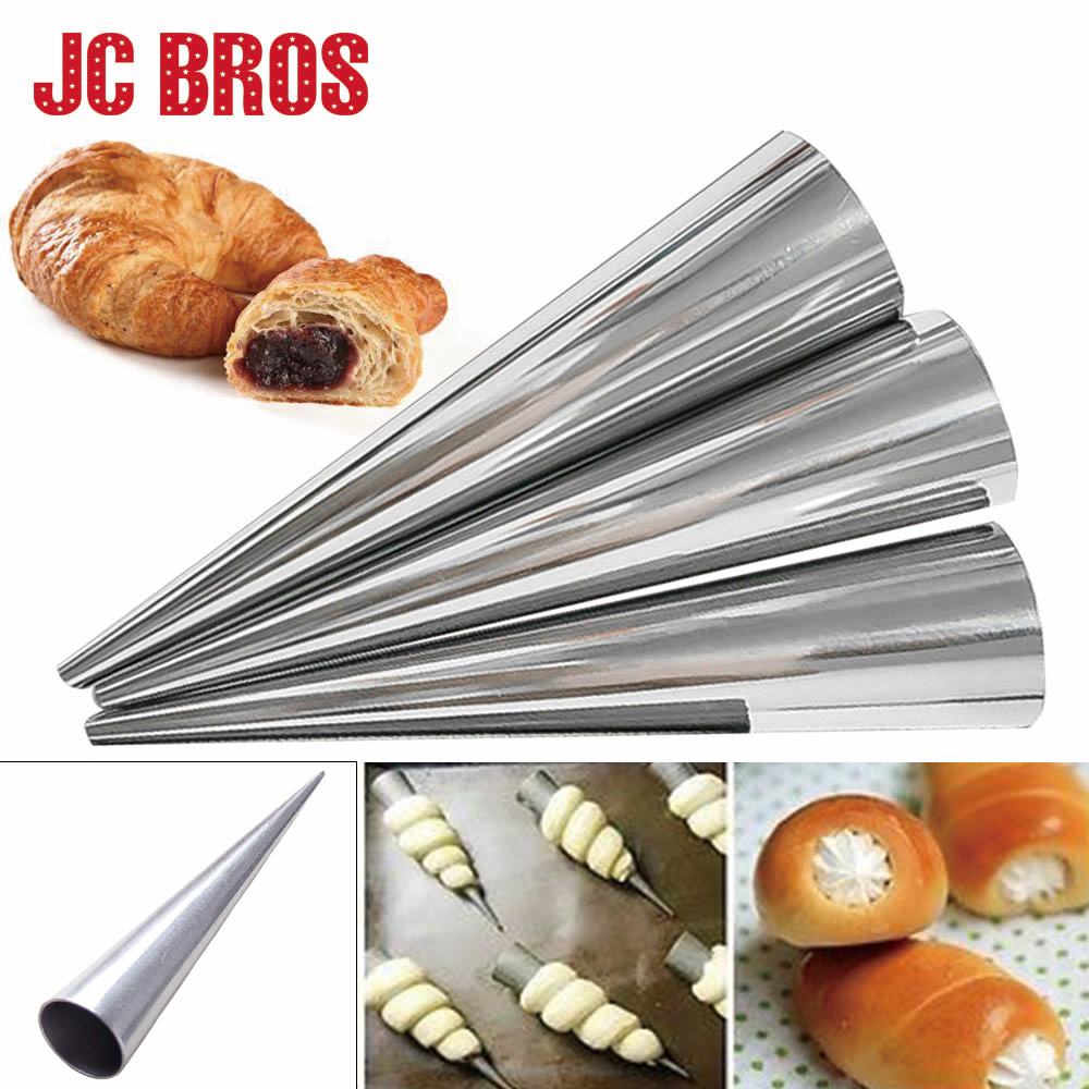 JC BROS 6Pcs/set Stainless Steel Molds Roll Moulds Cream