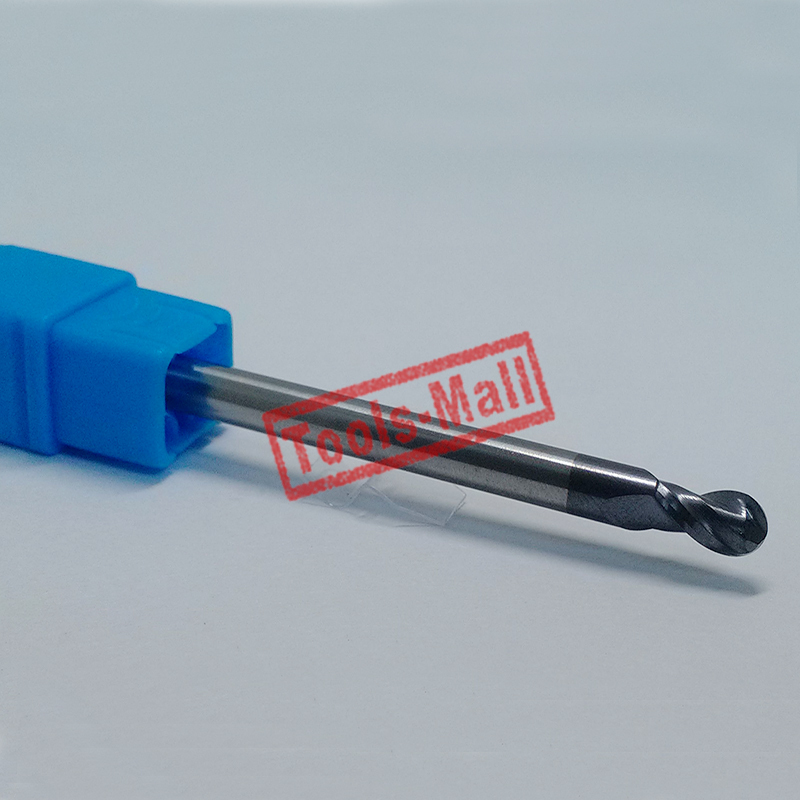 1pc radius=2mm 2 Flutes hrc60 R2*8*D4*75 solid carbide Ball nose End Mill CNC router bits tools Milling cutter 12 12 30 75 of 4 flutes hrc 60 mill cutter solid carbide end mill cnc machine milling tools