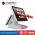 "Free shipping Newest model dual screen----15""/12"" pos terminal ingenico, lottery pos terminal, touch screen pos terminal"
