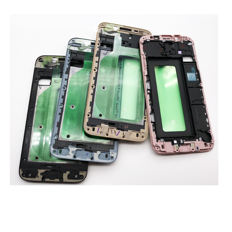 10 Pcs/lot, LCD Front Frame Bezel Housing For Samsung Galaxy J7 2017 J730 Front Housing LCD Screen Holder Frame High Quality