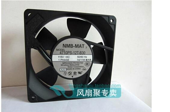 New original NMB12CM 12025 115V 14/11W 4710PS-12T-B30 AC cooling fan nmb mat 5915pc 12t b30 a00 dc 115v 35a 2 piece 150x172x38mm server round fan