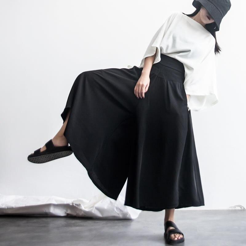 Europa Cintura Black Sólido Casual hg Mujeres longitud Verano Elástica Kzh1111 Color Nueva Pantalones 2018 Mujer Tobillo Pierna 71q7w0Iaxt