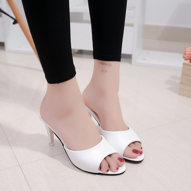 HTB11J5mbtzvK1RkSnfoq6zMwVXaQ HOKSVZY Women Slipper 2019 Slippers women's Fashion Wear Stiletto Fish Mouth Stiletto Sandals Slippers women's Sandals FZZ-2902