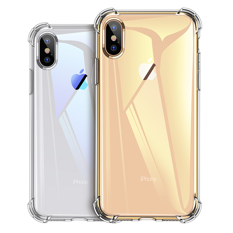 Luxury Shockproof Silicone Phone Case For iPhone X XS XR XS Max 8 7 Plus 6 6S Plus 5 5S Case Transparent Protection Back Cover in Fitted Cases from Cellphones Telecommunications