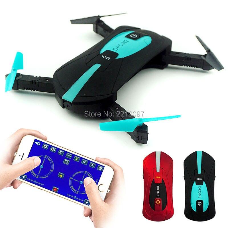 JY018 portatile Pieghevole Mini Selfie Drone Tasca Pieghevole Quadcopter Mantenimento di Quota Headless WIFI FPV Camera RC Helicopter VS H31