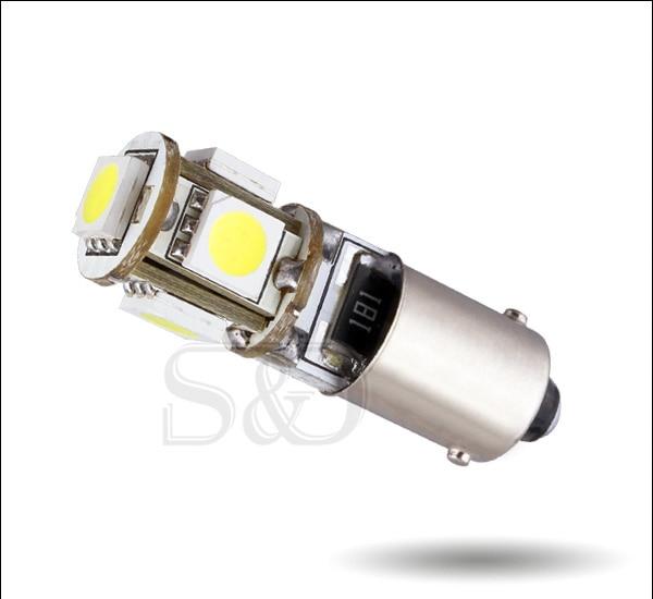 2 шт. BA9S светодиодный T4W H6W canbus светодиодные лампочки ошибок 5SMD 5050 6000K автомобиля Подсветка салона номерной знак авто светодиодные лампы 12V