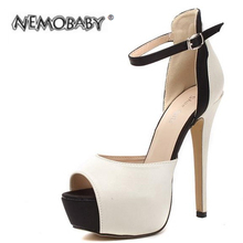 2016 neue Mode Elegante Glänzende Sexy Casual Sandalen Peep Toe Thin Heels Pumps Frauen Schuhe Frau Solide Party Hochzeit Schuhe