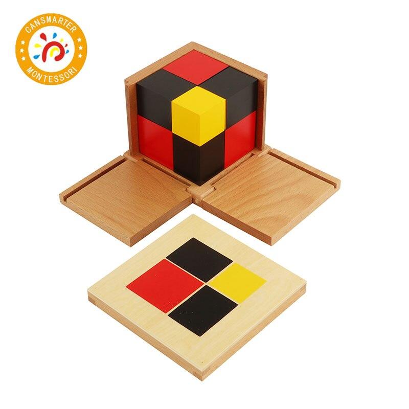 Montessori matériel mathématiques jouet algébrique binôme Cube trinôme Cube jouets de la petite enfance - 5