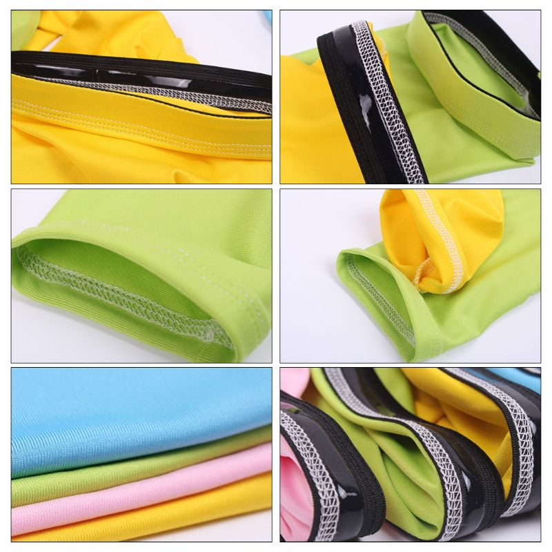 Unisex Summer UV Protection Milk Silk Cooling Arm Sleeves Anti Slip Candy Color Protective Cycling Running Long Cover Mittens in Running Arm Warmers from Sports Entertainment