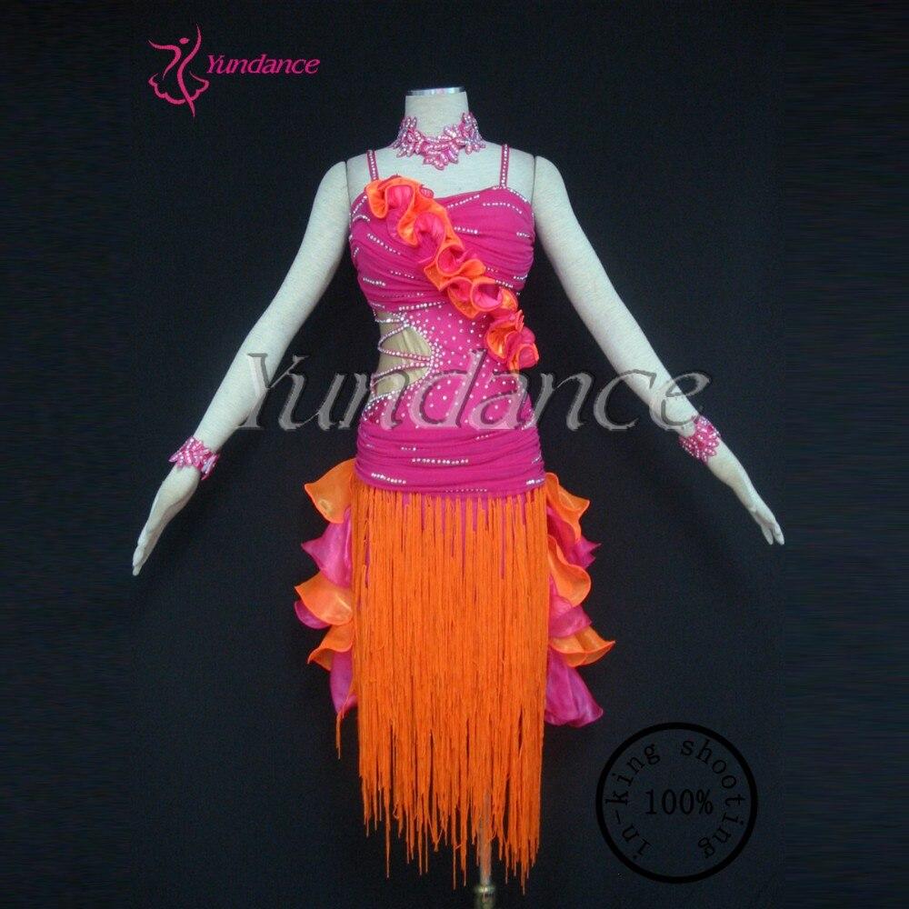 L 12143 Костюмы для латиноамериканских танцев зал для сальсы конкурсной Танцы костюмы Одежда для сцены