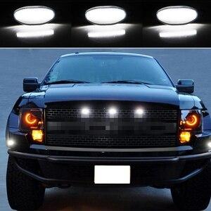 Image 5 - Ijmd (3) truck 4X4 Grille Lampen Wit/Amber Gele Led Voor 2010 2014 En 2017 Up Ford raptor Grille Lampen Parkeren Rijden Licht