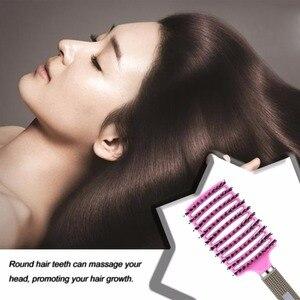 Image 3 - Women Female Hair Scalp Massage Comb Bristle&Nylon Hairbrush Wet Curly Detangle Hair Brush for Salon Hairdressing Styling Tools