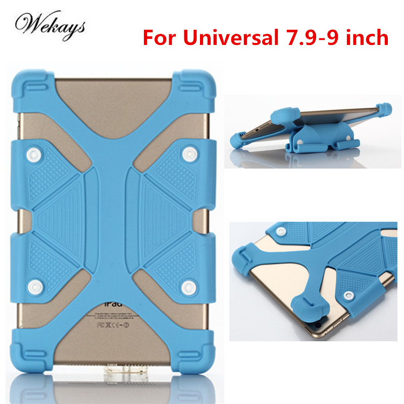Wekays Universal Cover For Samsung Huawei Xiaomi Asus Tablet,Hot 7.9 - 9.0 Inch Silicone Case With Buttons For iPad Mini 3 Cover universal 8 inch tablet case for huawei lenovo samsung asus acer ipad mini marble pu leather flip tablet protective shell cover