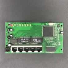OEM 5-разъемное зарядное usb-устройство Порт Gigabit модуль маршрутизатора 10/100/1000 м распределительная коробка 5-портовый мини маршрутизатор модули OEM проводной роутер Модуль блок печатных плат с RJ45
