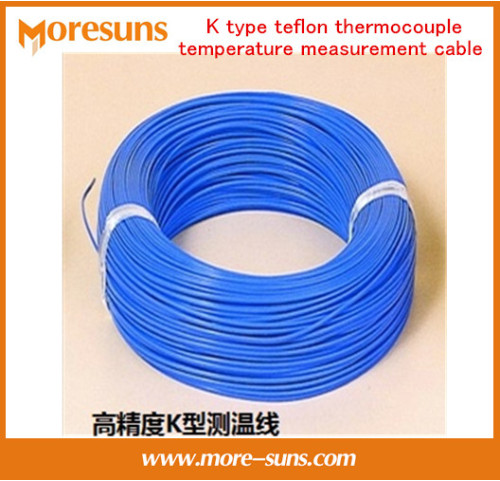 Free Ship 50M lot K type four fluorineTHERMO COUPLE WIRE K type teflon thermocouple temperature measurement